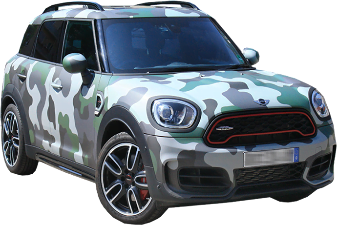Mini Coopter Camouflage